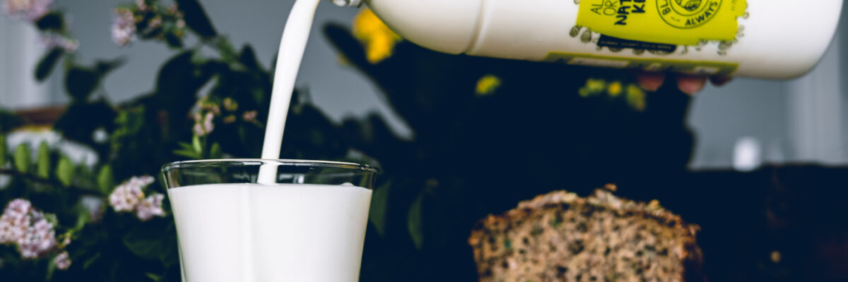 Close up Image of Blakes kefir being poured into a glass