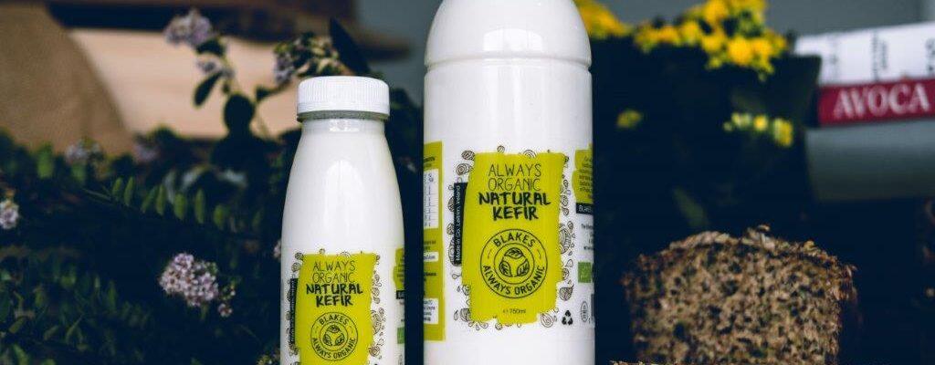 Photo of two Blakes Always Organic Natural Kefir bottles